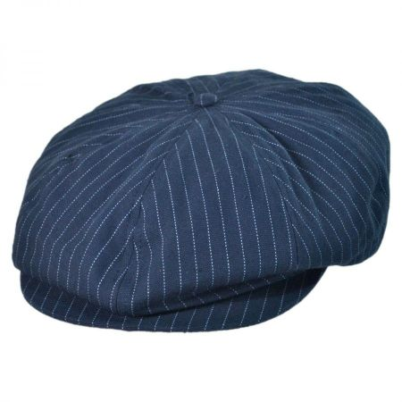 Brixton Hats Stripe Brood Newsboy Cap
