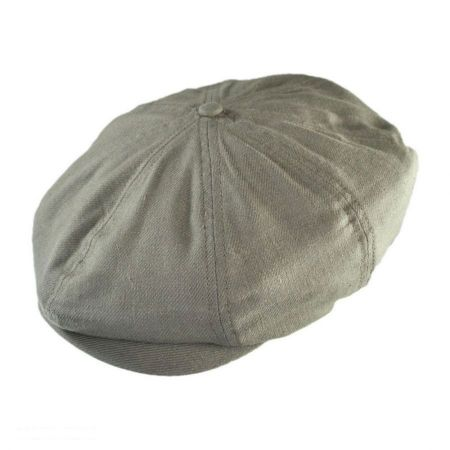 Brood Linen and Cotton Twill Newsboy Cap
