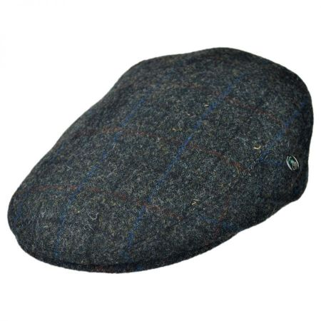 City Sport Caps Harris Tweed Windowpane Plaid Ivy Cap