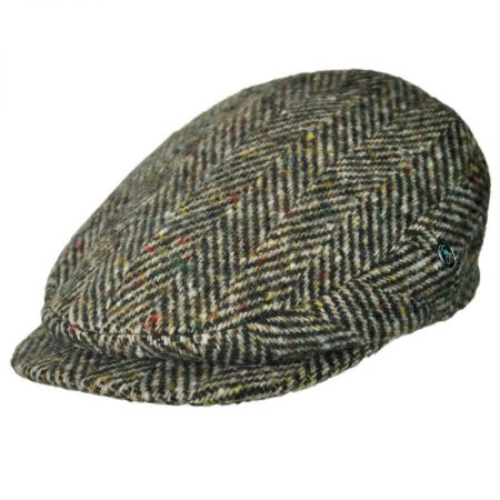 City Sport Caps Large Herringbone Donegal Tweed Wool Ivy Cap