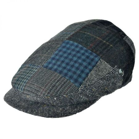 City Sport Caps Donegal Tweed Wool Patchwork Ivy Cap
