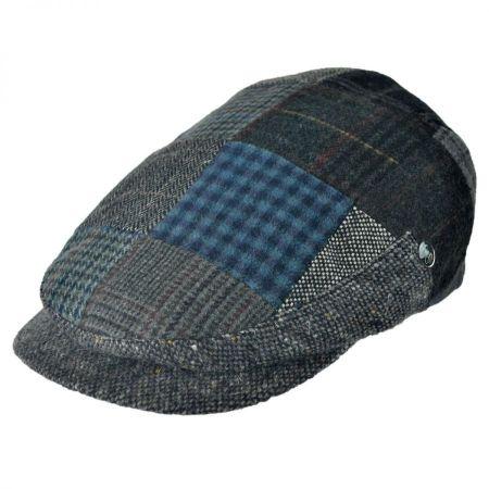 City Sport Caps Donegal Tweed Patchwork Ivy Cap