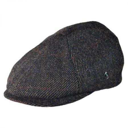 6 Piece Harris Tweed Plaid Newsboy Cap