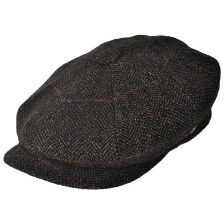 City Sport Caps British Wool Herringbone Newsboy Cap
