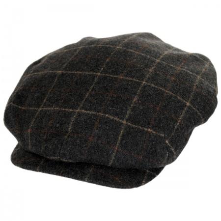 City Sport Caps Windowpane Plaid Loden Wool Newsboy Cap