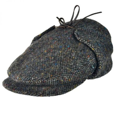 City Sport Caps Donegal Tweed Tic Weave Ivy Cap with Earlaps