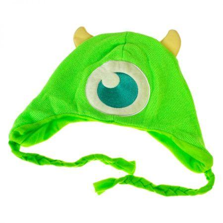 Disney Monsters Inc Mike Wazowski Knit Acrylic Peruvian Beanie Hat