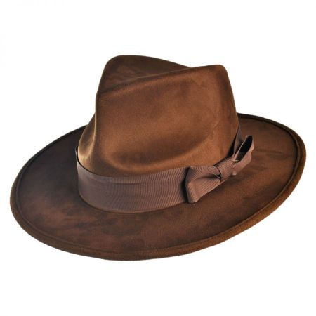 4th Doctor Faux Suede Fedora Hat