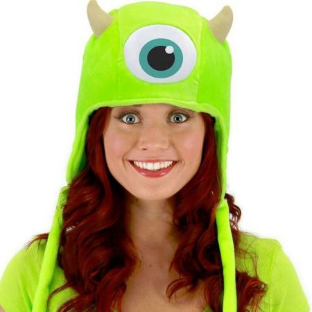 Disney Monsters University Mike Wazowski Furry Peruvian Beanie Hat