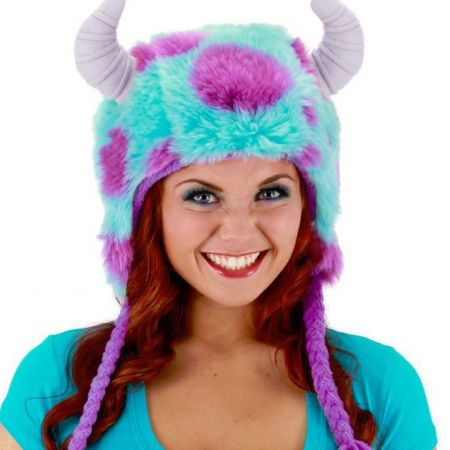 Disney Monsters University Sulley Furry Peruvian Beanie Hat