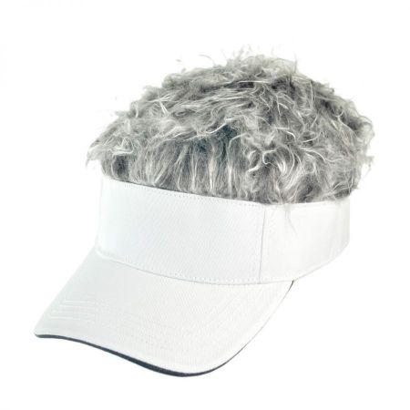 Flair Hair White Visor