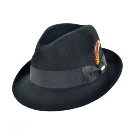 B2B Jaxon Blues Crushable Wool Felt Trilby Fedora Hat