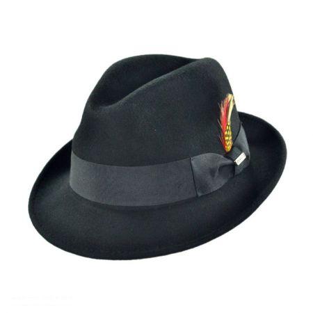 B2B Jaxon Blues Crushable Wool Felt Trilby Fedora Hat