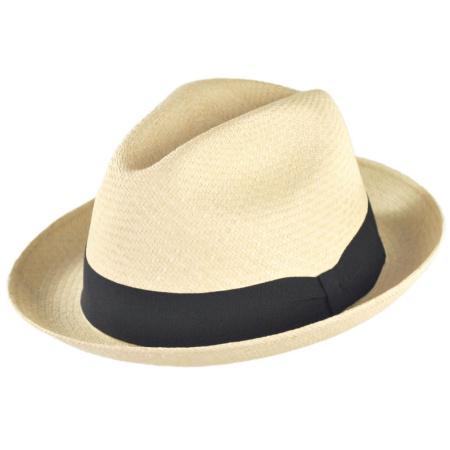 B2B Jaxon Panama Straw Trilby Fedora Hat
