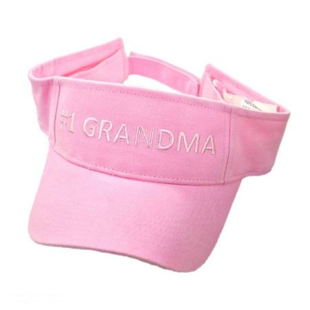 #1 Grandma Cotton Adjustable Visor
