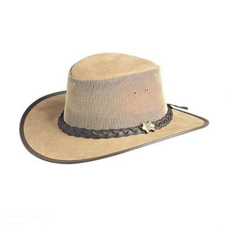 Cool as a Breeze Leather Mesh Hat