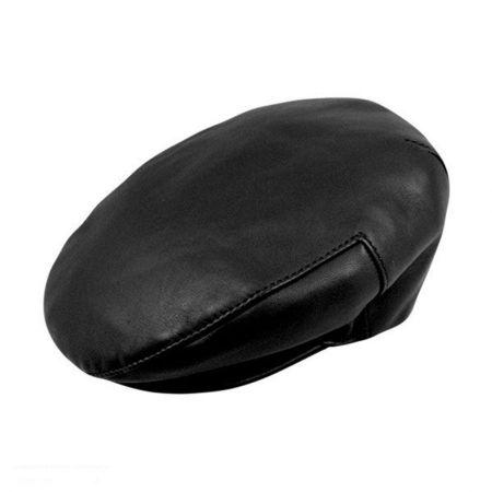Borsalino Leather Ivy Cap