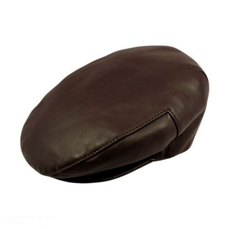 Borsalino Borsalino Leather Ivy Cap