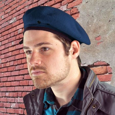 Village Hat Shop Budget Military Wool Beret