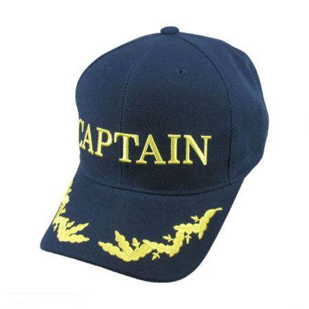 Village Hat Shop Captain Snapback Baseball Cap - Navy Blue