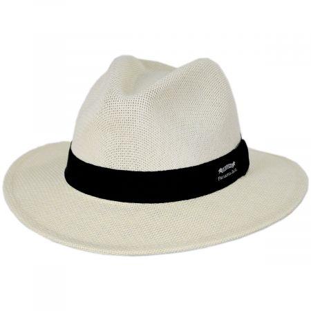 Panama Jack Kingfin Toyo Straw Safari Fedora Hat