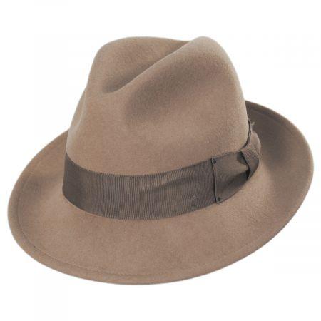 Blixen Camel Wool Litefelt Fedora Hat