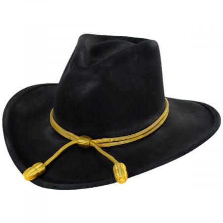 John Wayne The Fort Black Wool Felt Crushable Western Hat
