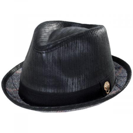 Carlos Santana Road Master Faux Leather Fedora Hat
