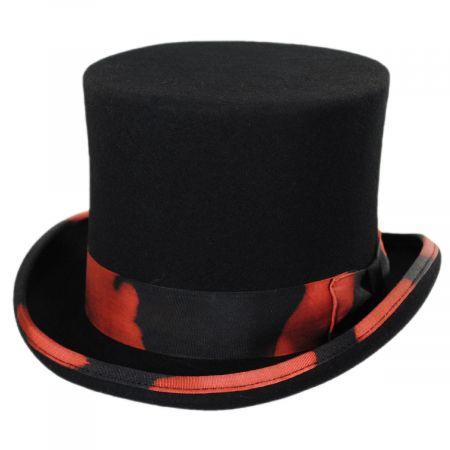 Stunt Distressed Wool Felt Top Hat alternate view 5