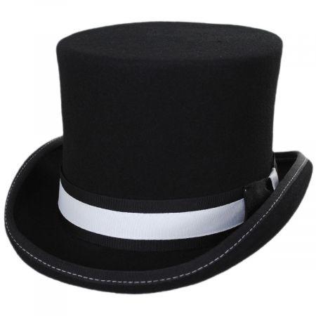 Scala McHale Wool Felt Top Hat