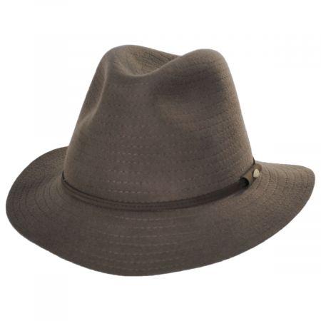 Scala Bourke Wool Felt Crushable Safari Fedora Hat