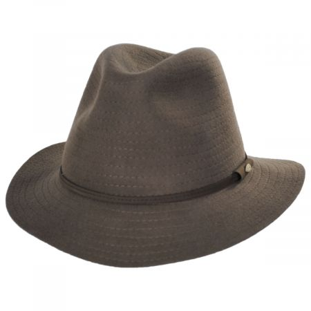 Bourke Wool Felt Crushable Safari Fedora Hat alternate view 17