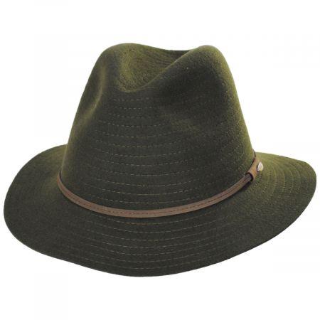 Bourke Wool Felt Crushable Safari Fedora Hat alternate view 5
