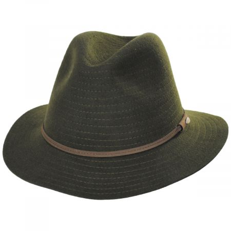 Bourke Wool Felt Crushable Safari Fedora Hat alternate view 13