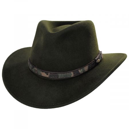 Scala Cairns Wool Felt Crushable Outback Hat
