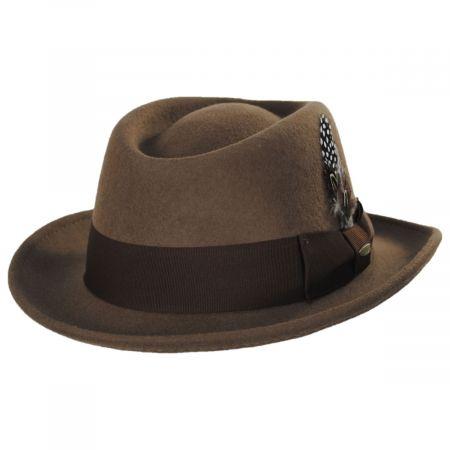 Scala Daintree Wool Felt Crushable Fedora Hat