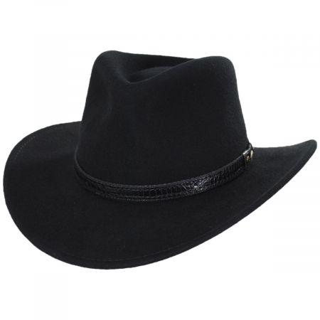 Scala Rosebery Wool Felt Crushable Outback Hat