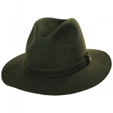Scala Victoria Wool Felt Safari Fedora Hat