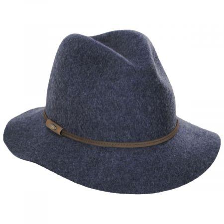 Scala Mystery Wool Felt Safari Fedora Hat