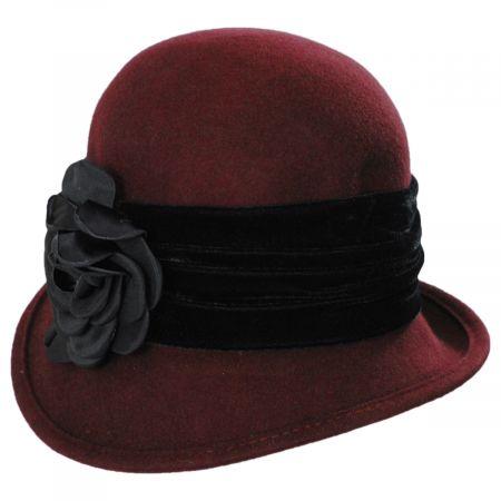 Scala Pietro Wool Felt Cloche Hat