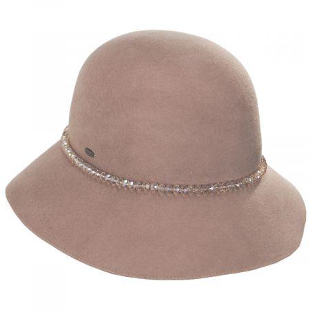 Scala Alessandria Wool Felt Cloche Hat