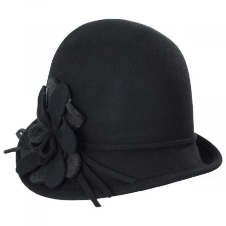 Amantea Wool Felt Cloche Hat