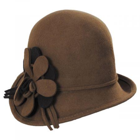 Scala Amantea Wool Felt Cloche Hat