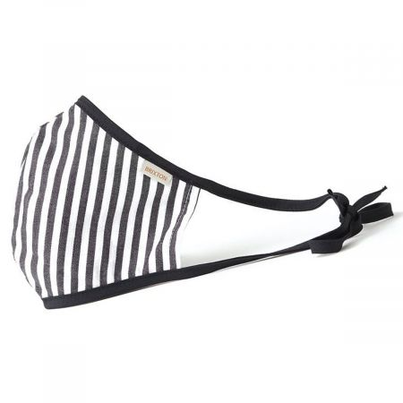 Antimicrobial Adjustable Ear Ties Striped Cotton Face Cover