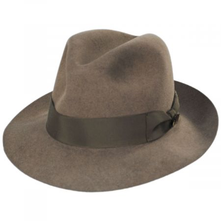 Biltmore Guelph Nutria Fur Felt Fedora Hat and Traveling Case