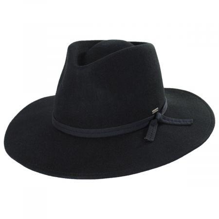 Joanna Packable Wool Felt Fedora Hat
