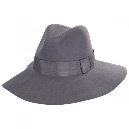 Brixton Hats Piper Gray Wool Felt Floppy Fedora