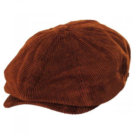 Brixton Hats Brood Rust Corduroy Cotton Newsboy Cap