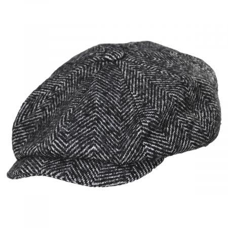 Brixton Hats Brood Herringbone Baggy Newsboy Cap