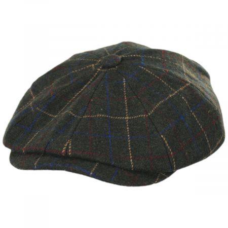 Brixton Hats Brood Windowpane Plaid Baggy Newsboy Cap